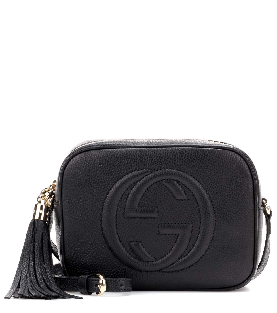 d735d6bb9d33 Gucci Soho Grained-Leather Cross-Body Bag In 1000 Black | ModeSens