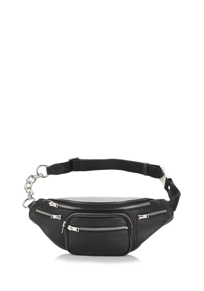 Alexander Wang Attica Leather-Trimmed Shell-Jacquard Belt Bag In Black