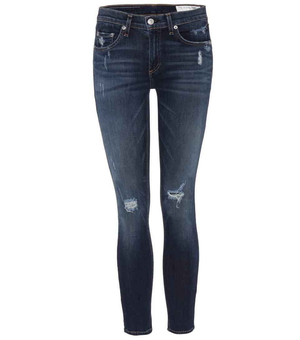 e530d0f77ce67 Rag   Bone Capri Cropped Distressed Skinny Jeans In Blue