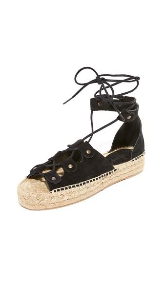 24ddca7e2de Soludos Ghillie Suede Platform Espadrille Sandals In Black