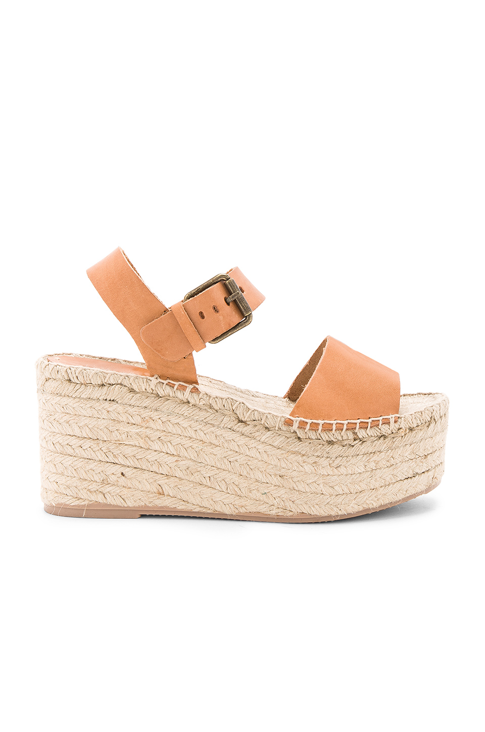 c852d033f51d Soludos Minorca Leather High Platform Espadrille Sandals In Nude ...