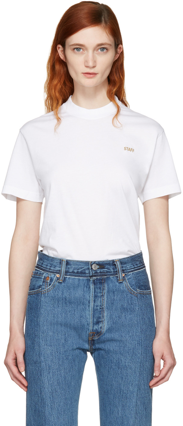 a68a289aadbf Vetements Entry Level Cotton-Jersey T-Shirt In White Priet | ModeSens