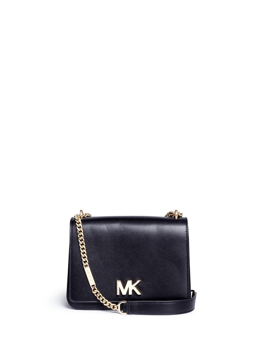 4a8024c82f8 Michael Kors  Mott  Large Curb Chain Leather Shoulder Bag