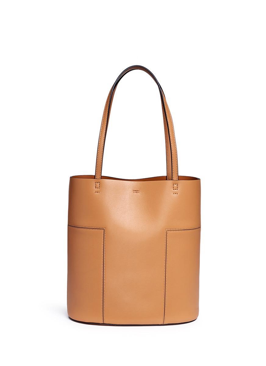 a42555563fa Tory Burch Block-T Aged Vachetta Leather Medium Tote