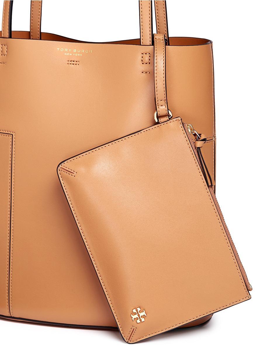 c46f9795f7f6 Tory Burch Block-T Aged Vachetta Leather Medium Tote