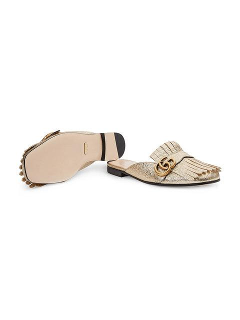 GUCCI GOLD MARMONT LEATHER MULES,474513DKT0012146696