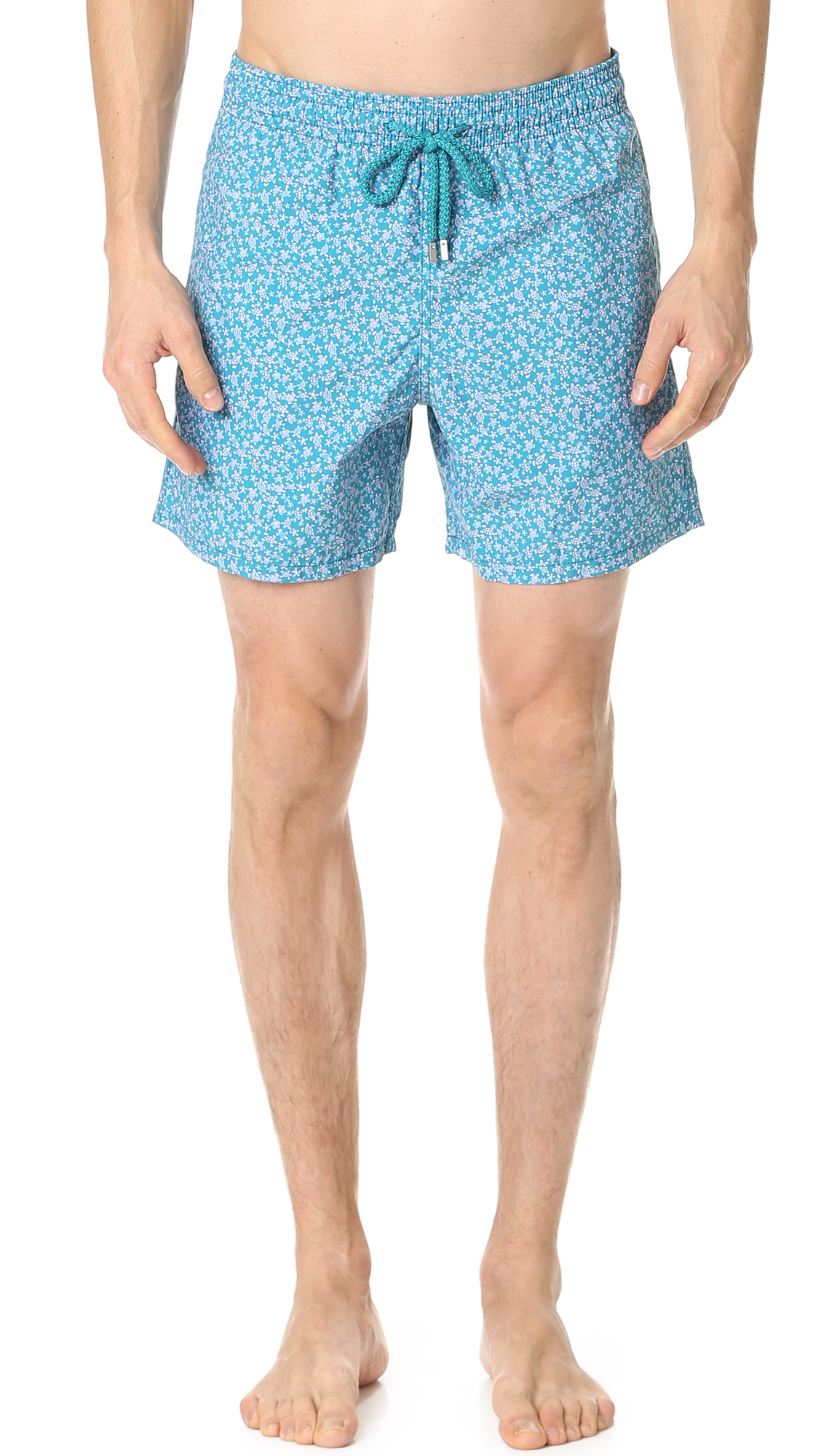 Vilebrequin Moorea Mid-length Printed Swim Shorts In Micro Turtle Print