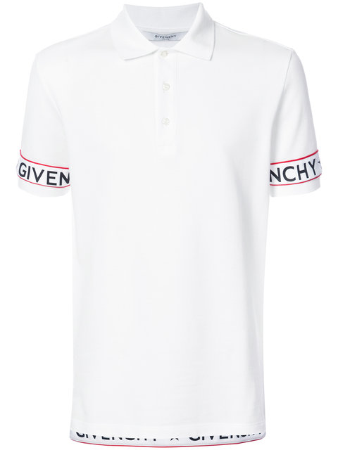 4300f32c Givenchy Cuban Fit Elastic Trimmed Cotton Pique Polo Shirt In White