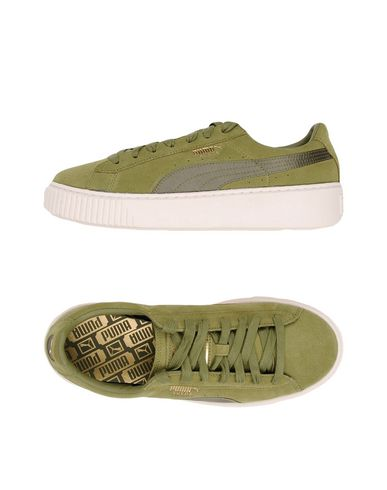 online store a467b dca1f Suede Platform Trainers in Green