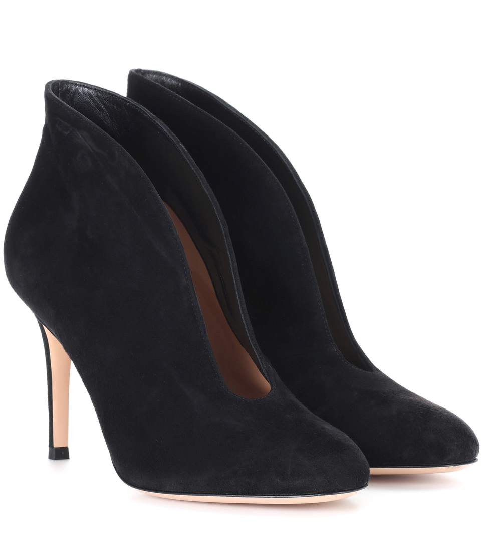 462bf3657e121 Gianvito Rossi Vania Suede High-Back Ankle Boots In Black | ModeSens