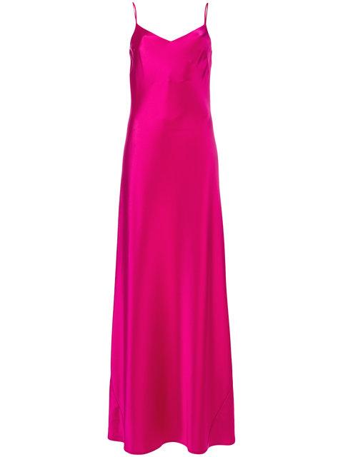 ca48dda0f14 Galvan Bias-Cut Satin Slip Maxi Dress In Pink