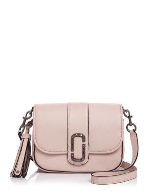 Marc Jacobs Pale Pink Pebbled Leather Interlock Small Courier Crossbody Bag  In Pale Pink Silver c4e97175055f7