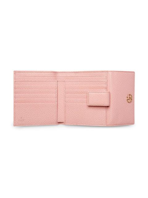 8fbfd831aab Gucci Leather French Flap Wallet - Pink