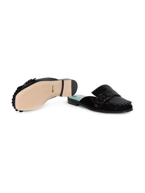 GUCCI MARMONT PATENT LEATHER SLIPPER,475826BNC00100012146699