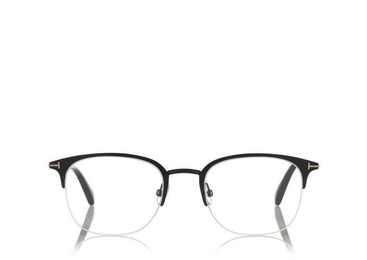 7900c0f3dfc Tom Ford Soft Square Metal Optical Frame In Black