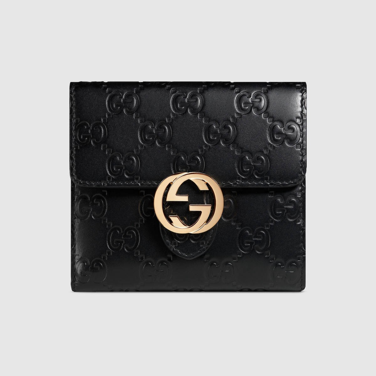 8239eff5645 Gucci Icon Signature Wallet - Black Signature