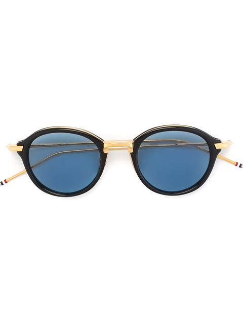 5cb997f1bed Thom Browne Eyewear Navy   Gold Round Sunglasses - Blue