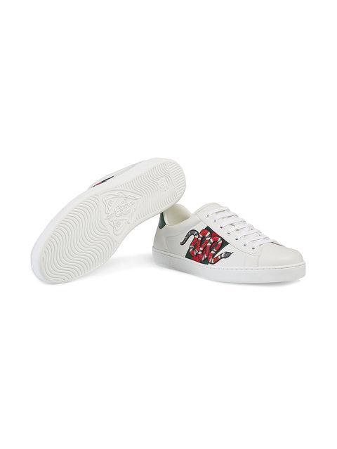GUCCI кроссовки 'Ace' с вышивкой,456230A38G012156620