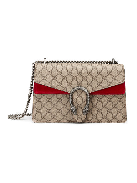 Gucci Neutral And Red Dionysus Shoulder Bag In Neutrals