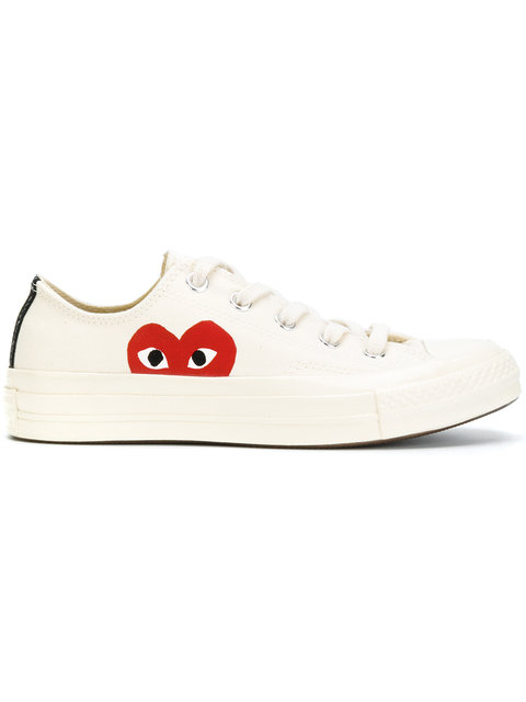 Comme Des Garcons Play Off white Converse Edition Half Heart Chuck Taylor All star 70 Sneakers