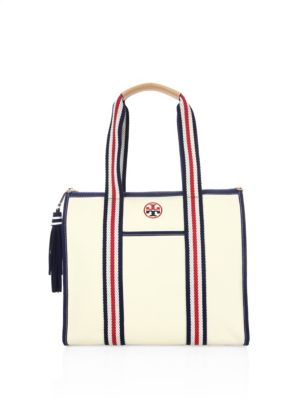 58825402d1e Tory Burch Embroidered-T Tote In Natural
