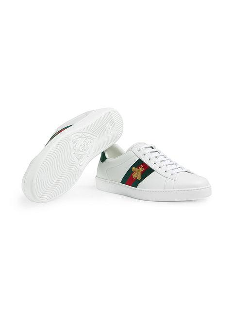 GUCCI Ace embroidered low-top sneakers,429446A38G012156638