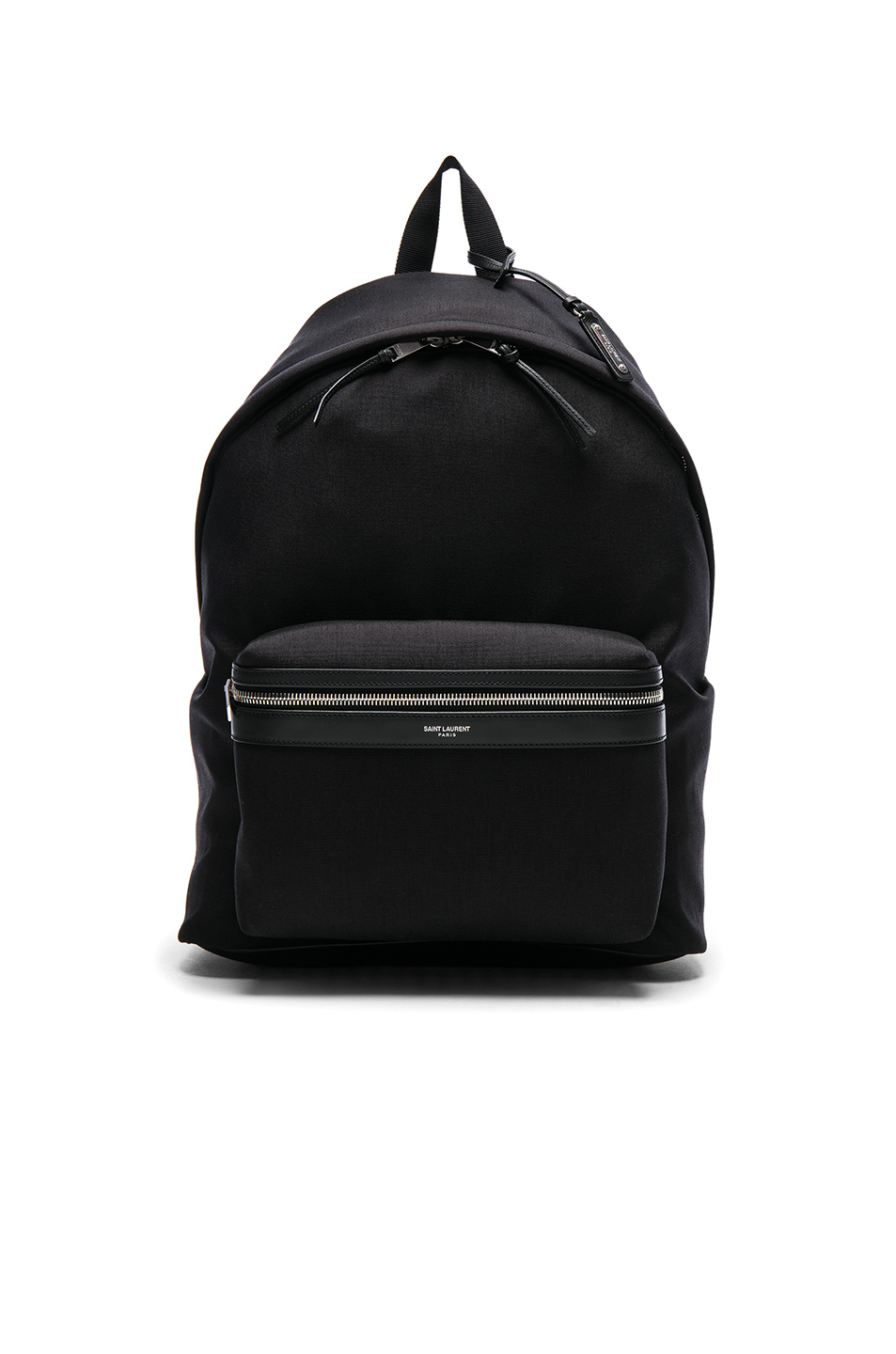Saint Laurent Giant City Backpack In Canvas Nylon And Leather In Black