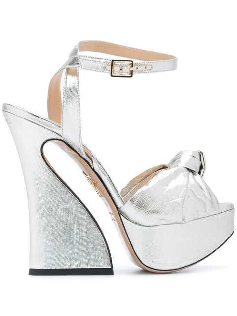 Charlotte Olympia Vreeland Sandals In Silver