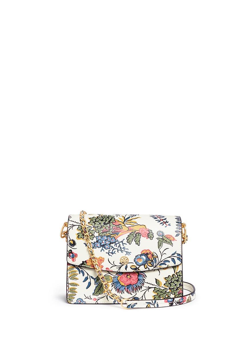 1a02d35ae33 Tory Burch  Parker  Floral Print Leather Convertible Shoulder Bag ...