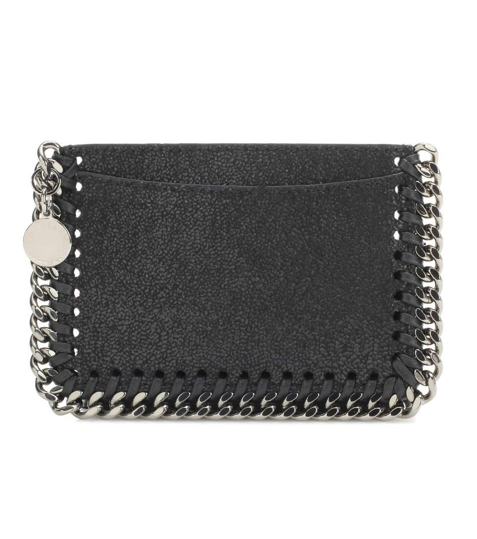 b905884067 Stella Mccartney Falabella Zipped Card Holder In Black