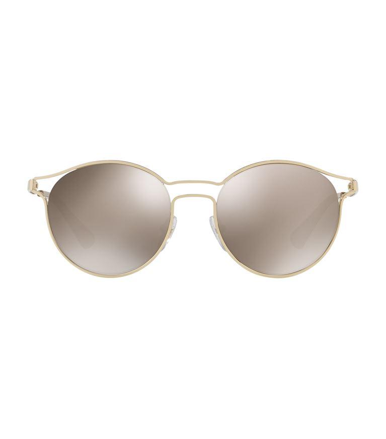 Prada Round Metal Open-inset Sunglasses, Gold In Harrods