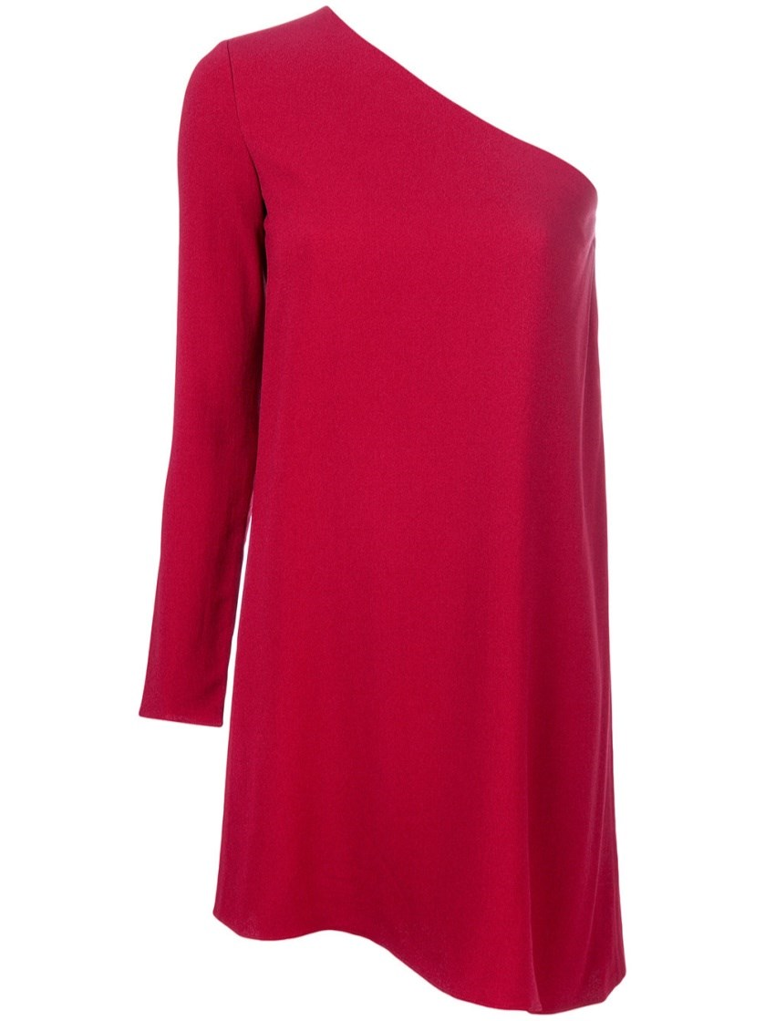 Theory  Sintsi  Asymmetric One-Shoulder Crepe Dress In Claret  26101e5aba9