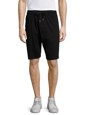 Helmut Lang Cotton Overlap Shorts In Black