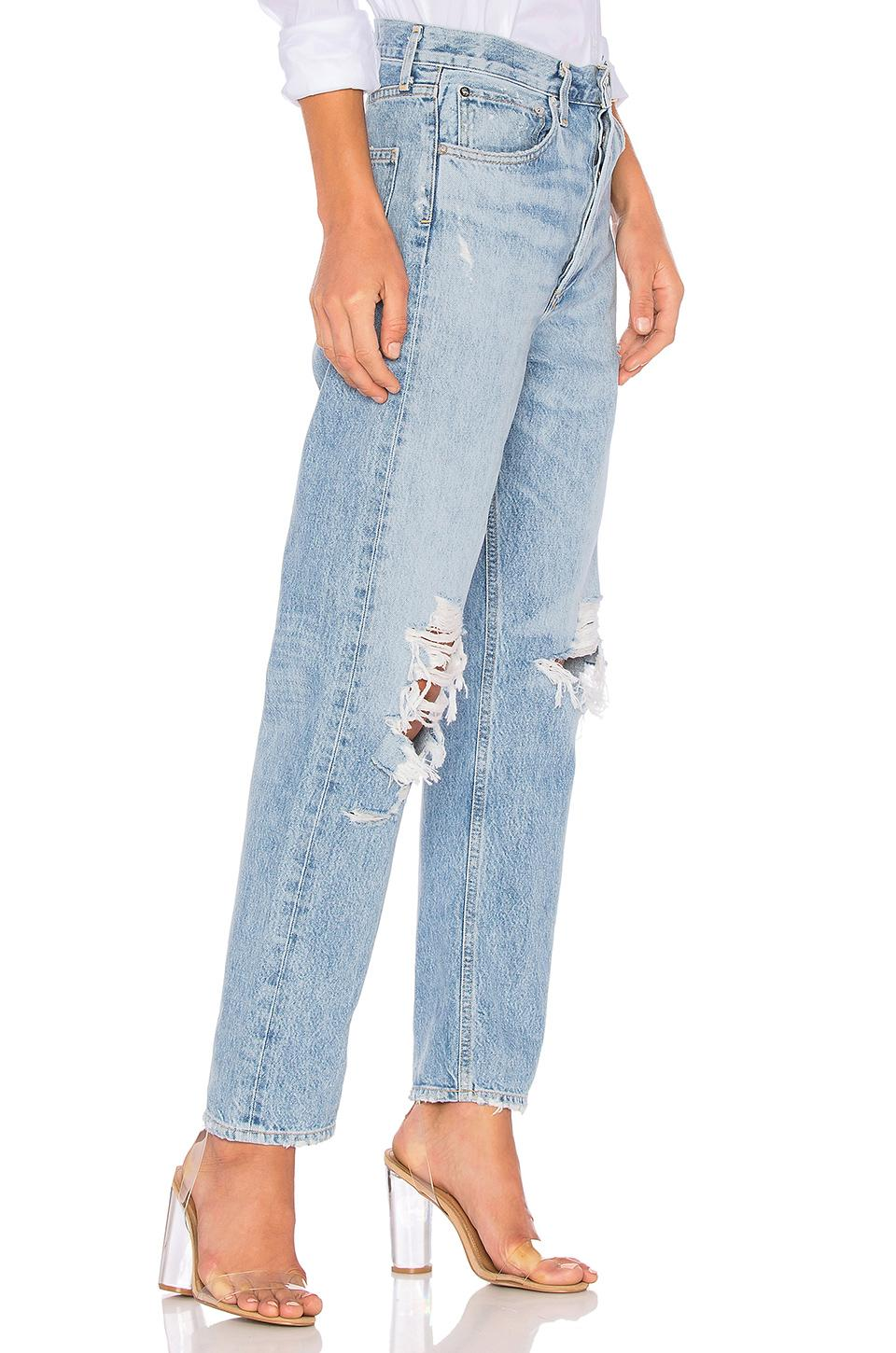 95be260084 Agolde '90S Mid-Rise Loose Distressed Jeans In Fall Out | ModeSens