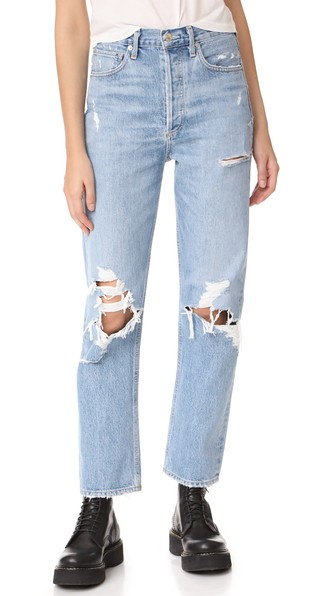 fe7a377e07 Agolde '90S Mid-Rise Loose Distressed Jeans In Fall Out | ModeSens
