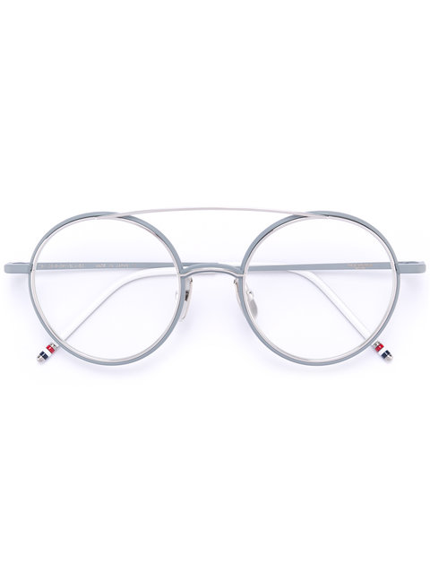 c73885c50fa Thom Browne Eyewear Matte Silver Titanium Optical Glasses With Clear Lens -  Metallic