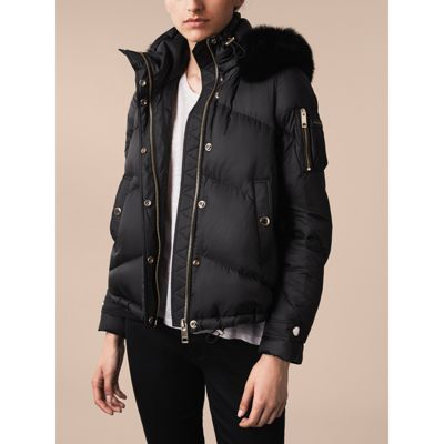 460aa32ca Burberry Down-Filled Puffer Jacket With Detachable Fur-Trimmed Hood ...