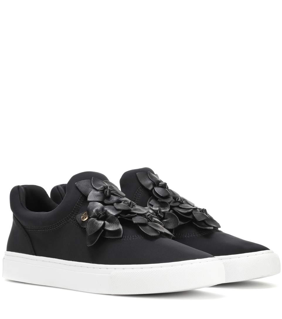 c85382471eb2 Tory Burch 20Mm Blossom Neoprene Slip-On Sneakers In Black