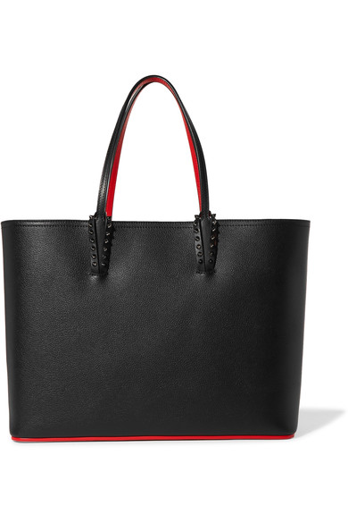 Christian Louboutin Cabata Spike-Embellished Leather Tote In Black