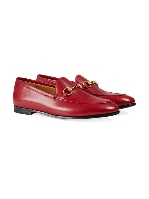 GUCCI GUCCI JORDAAN LEATHER LOAFER,404069BLM0012156629