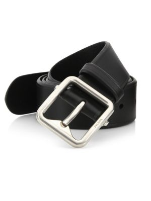 Prada Leather Belt In Brown