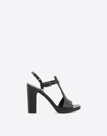 Valentino Garavani Rockstud Rolling Noir 105mm Sandal In Black