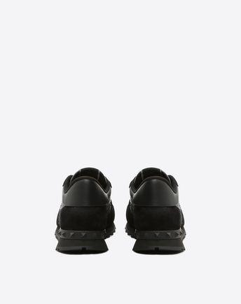 Valentino Rockrunner Camouflage Noir Metallic Sneaker Man Black  47
