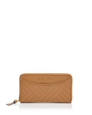 f62dbb04a Tory Burch Alexa Quilted Leather Continental Wallet In Aged Vachetta Gold