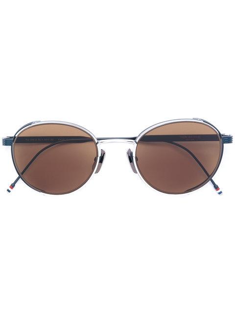 6c255fcc09a Thom Browne Eyewear Round Frame Sunglasses - Blue