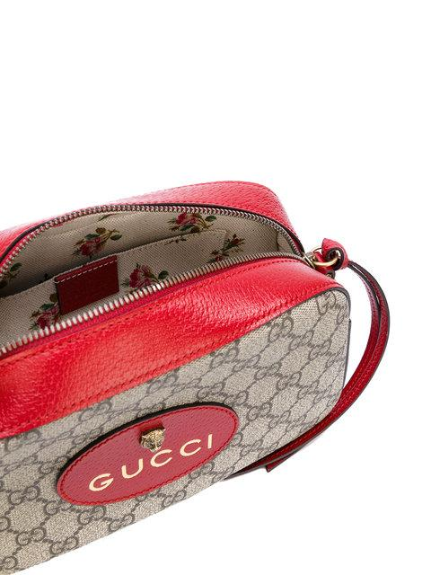 9615ee0d7a47 Gucci Gg Supreme Neo Vintage Camera Bag, Taupe/Red In Neutrals ...