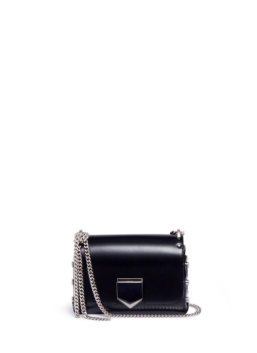 40e9c3239307e Jimmy Choo  Lockett Petite  Stud Leather Crossbody Bag In Black ...