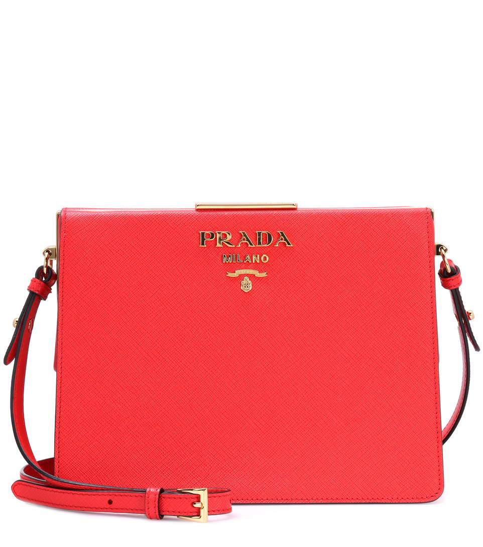 63c2504e2ea5 Prada Exclusive To Mytheresa.Com - Saffiano Leather Shoulder Bag In Red