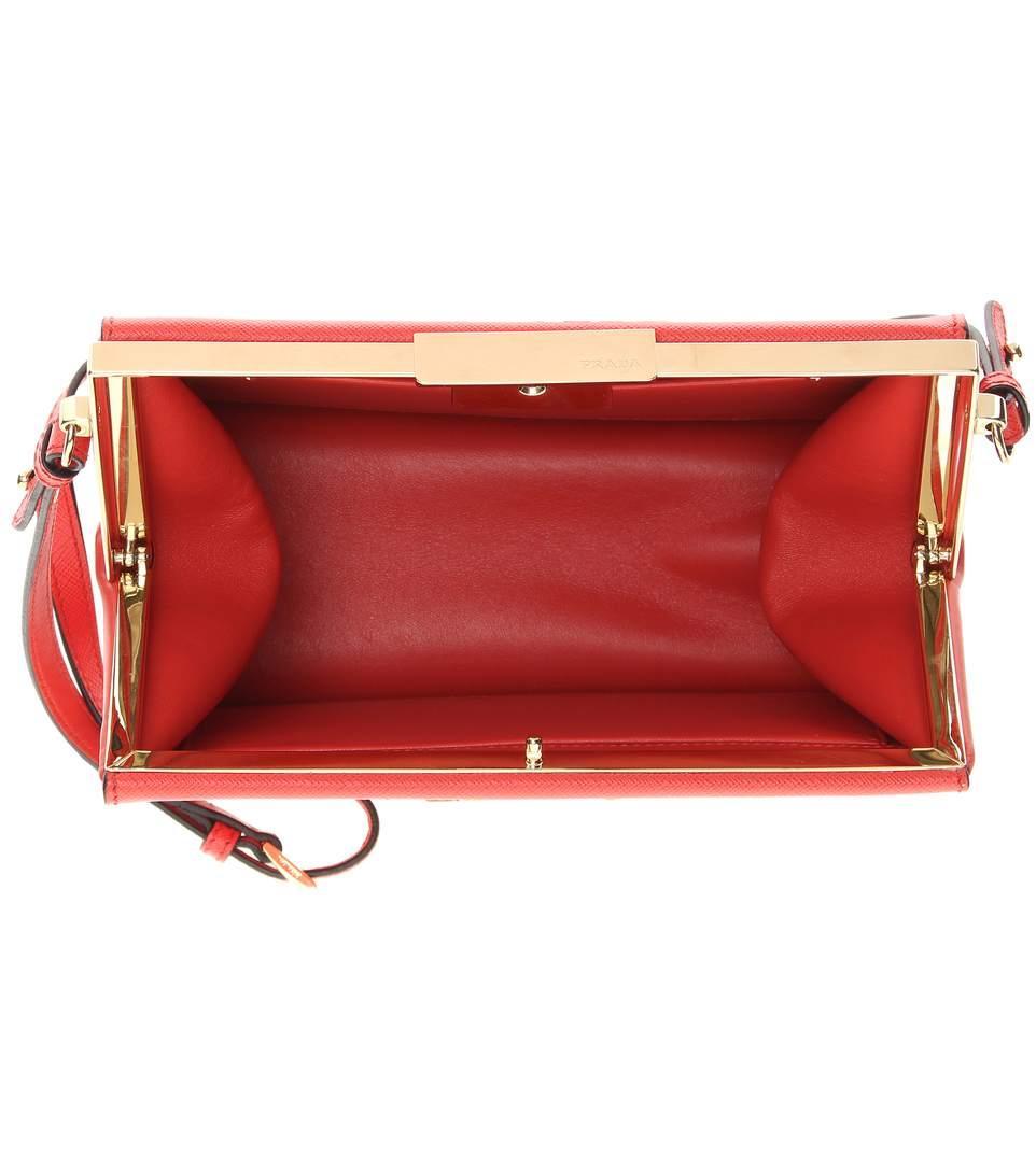 63c2504e2ea5 Prada Exclusive To Mytheresa.Com - Saffiano Leather Shoulder Bag In Red