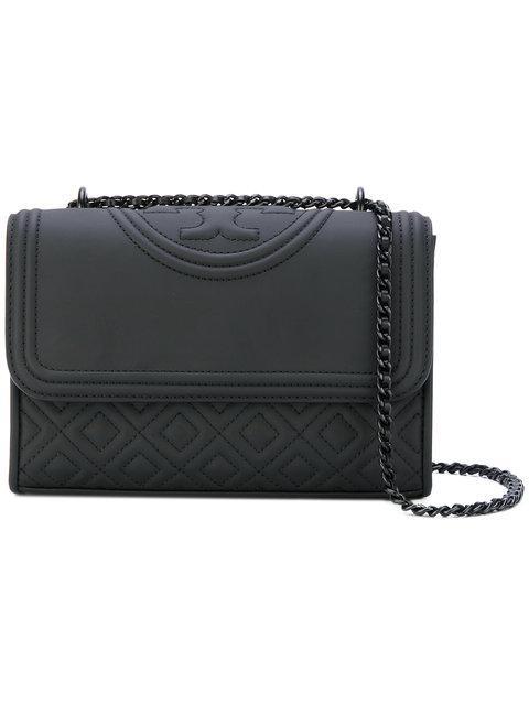 234bee13eca Tory Burch Fleming Black Leather Small Convertible Shoulder Bag ...